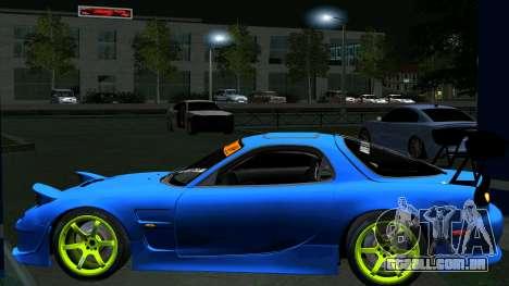 Mazda RX-7 FD3S Vertex para GTA San Andreas vista traseira