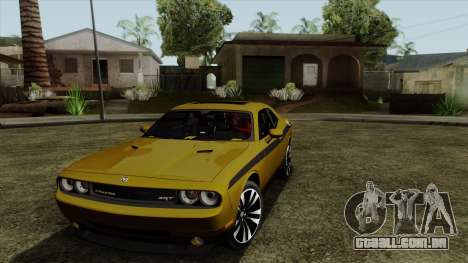Dodge Challenger Yellow Jacket para GTA San Andreas esquerda vista