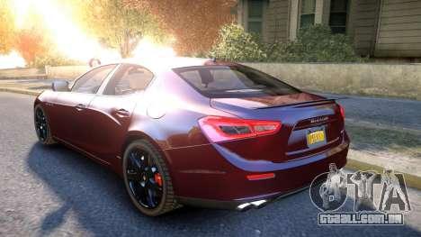 Maserati Ghibli 2014 v1.0 para GTA 4 traseira esquerda vista