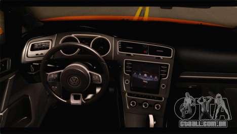 Volkswagen Golf GTI 2014 para GTA San Andreas vista direita