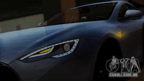 Tesla Model S 2014 para GTA San Andreas vista traseira