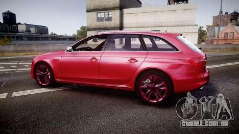 Audi S4 Avant 2013 para GTA 4 esquerda vista