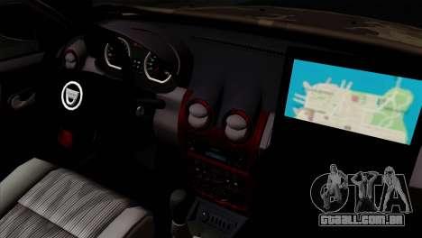 Dacia Duster Army Skin 4 para GTA San Andreas vista direita