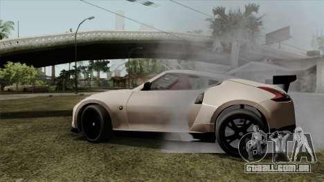 Nissan 370Z Nismo para GTA San Andreas traseira esquerda vista