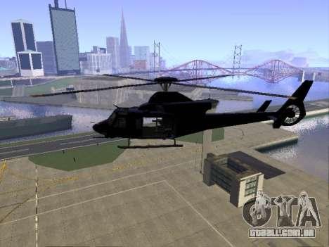GTA 5 Valkyrie para GTA San Andreas vista traseira