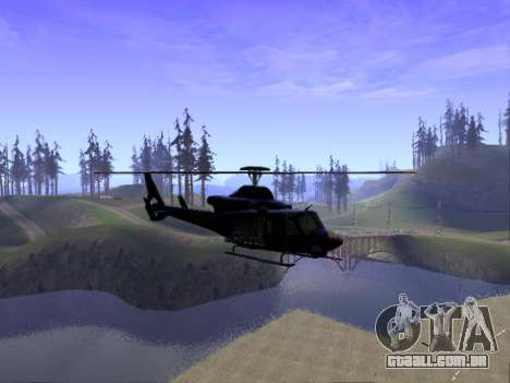 GTA 5 Valkyrie para GTA San Andreas esquerda vista