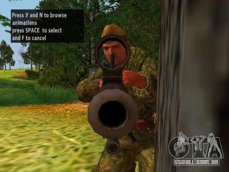 Os soldados do exército vermelho para GTA San Andreas quinto tela