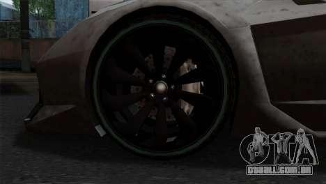 GTA 5 Pegassi Zentorno SA Style para GTA San Andreas traseira esquerda vista