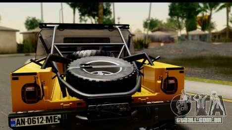 Hummer H1 6-Wheel para GTA San Andreas vista direita