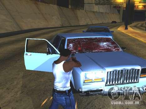 Sangue nos vidros do carro para GTA San Andreas por diante tela