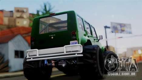 GTA 5 Canis Mesa Merryweather IVF para GTA San Andreas traseira esquerda vista