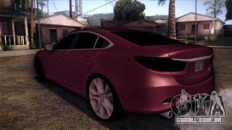 Mazda 6 2013 HD v0.8 beta para GTA San Andreas esquerda vista