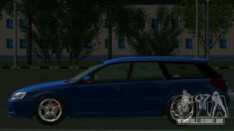 Subaru Legacy Touring Wagon 2003 para GTA San Andreas vista traseira