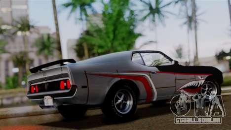 Ford Mustang Mach 1 429 Cobra Jet 1971 HQLM para GTA San Andreas vista inferior