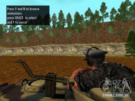 Alemão comandante de tanque para GTA San Andreas quinto tela