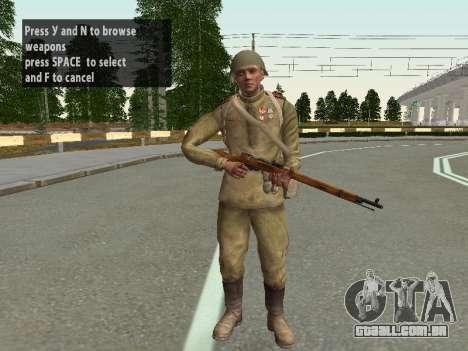 Os soldados do exército vermelho no capacete para GTA San Andreas