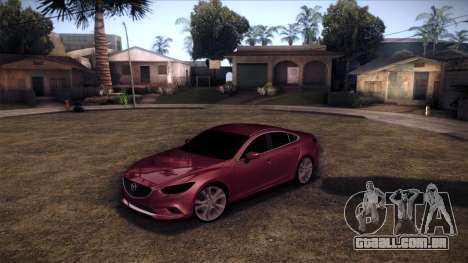 Mazda 6 2013 HD v0.8 beta para GTA San Andreas traseira esquerda vista