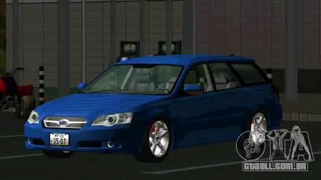 Subaru Legacy Touring Wagon 2003 para GTA San Andreas traseira esquerda vista