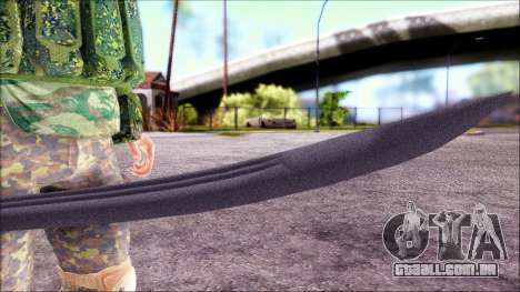 Shashka Cossaco para GTA San Andreas por diante tela