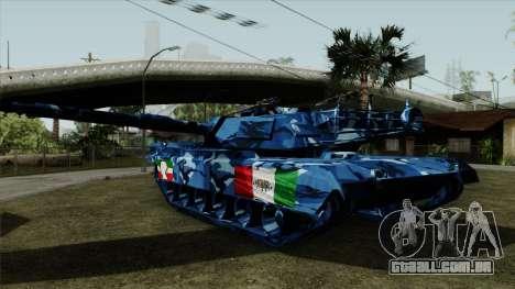 Azul de camuflagem militar, para o tanque para GTA San Andreas