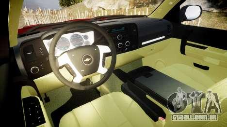 Chevrolet Silverado 1500 LT Extended Cab wheels2 para GTA 4 vista de volta