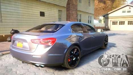 Maserati Ghibli 2014 v1.0 para GTA 4 vista direita