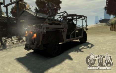 M1161 Growler para GTA 4 vista de volta