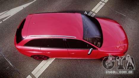 Audi S4 Avant 2013 para GTA 4 vista direita