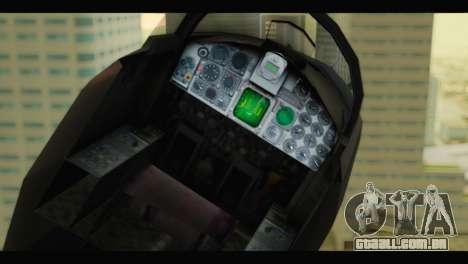 Northrop F-5E Top Gun para GTA San Andreas vista traseira
