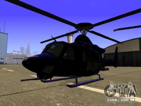 GTA 5 Valkyrie para GTA San Andreas vista superior