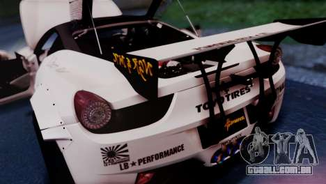 Ferrari 458 Italy Liberty Walk LB Performance para GTA San Andreas vista traseira