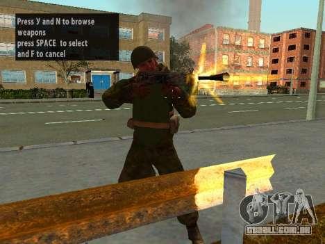 Os soldados do exército vermelho na armadura para GTA San Andreas por diante tela