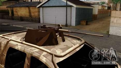 Dacia Duster Army Skin 4 para GTA San Andreas vista traseira