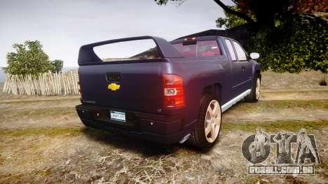 Chevrolet Silverado 1500 LT Extended Cab wheels2 para GTA 4 traseira esquerda vista