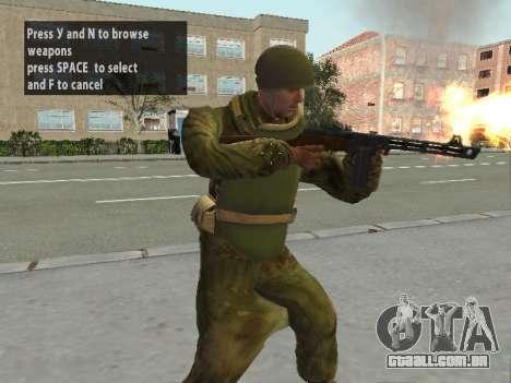 Os soldados do exército vermelho na armadura para GTA San Andreas segunda tela