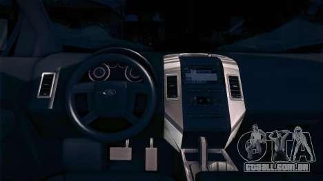 Ford Edge COPE - PCSC para GTA San Andreas traseira esquerda vista