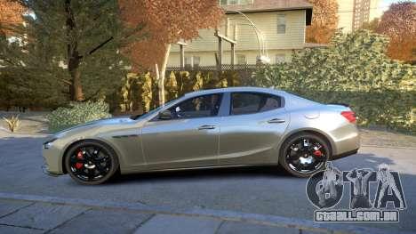 Maserati Ghibli 2014 v1.0 para GTA 4 esquerda vista