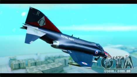 McDonnell Douglas F-4E RAF para GTA San Andreas esquerda vista