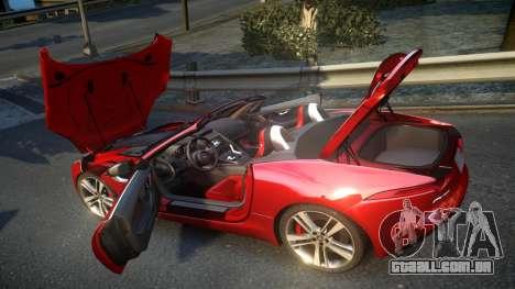 Jaguar F-Type v1.6 Release [EPM] para GTA 4 vista lateral