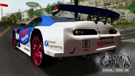 Toyota Supra 2005 EXXON SuperFlo para GTA San Andreas esquerda vista