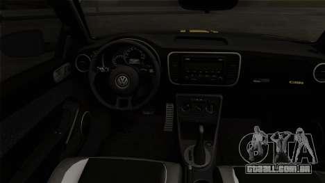 Volkswagen New Beetle 2014 GSR para GTA San Andreas traseira esquerda vista