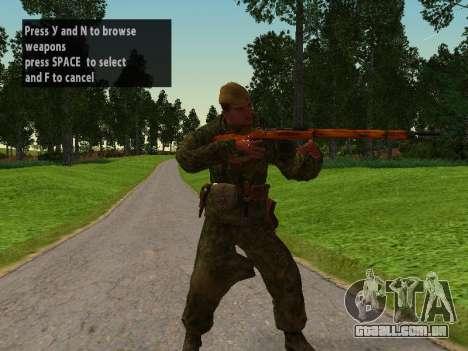 Os soldados do exército vermelho para GTA San Andreas segunda tela