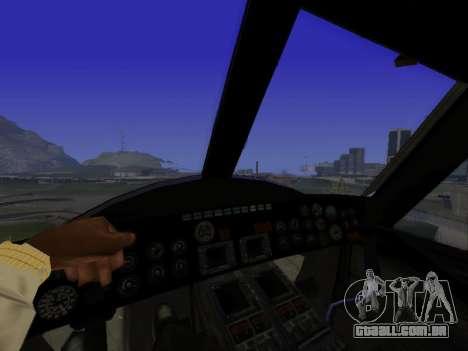 GTA 5 Valkyrie para GTA San Andreas vista direita