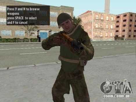 Os soldados do exército vermelho na armadura para GTA San Andreas terceira tela