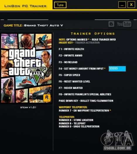 GTA V Treinador para GTA 5