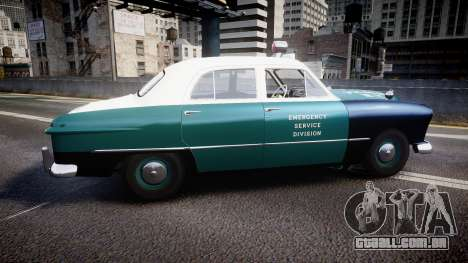 Ford Custom Deluxe Fordor 1949 New York Police para GTA 4 esquerda vista