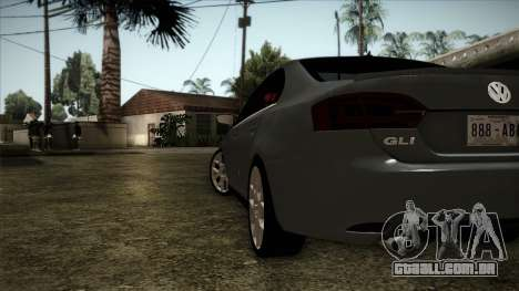 Volkswagen Jetta GLI Edition 30 2014 para GTA San Andreas traseira esquerda vista