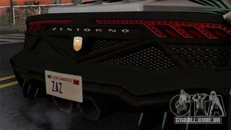 GTA 5 Pegassi Zentorno SA Style para GTA San Andreas vista traseira