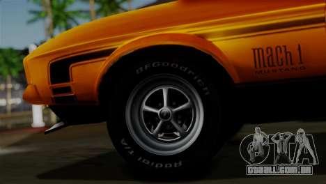 Ford Mustang Mach 1 429 Cobra Jet 1971 HQLM para GTA San Andreas traseira esquerda vista