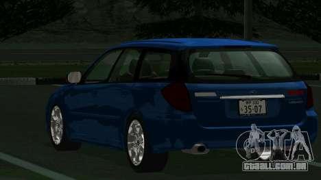 Subaru Legacy Touring Wagon 2003 para GTA San Andreas vista direita